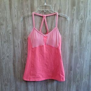 Athleta Fulfillment Tank Neon Pink Stripe 085